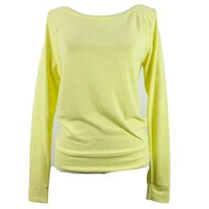 Abbot Main XS Sweater Yellow Pullover Long Sleeve